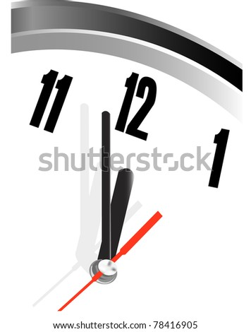 time concept of clock face