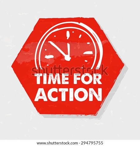 time for action with clock