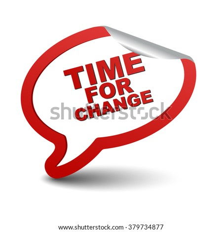 time for change  red vector