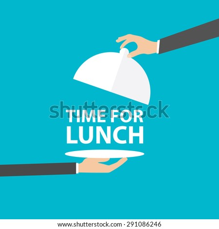 Time for lunch, vector