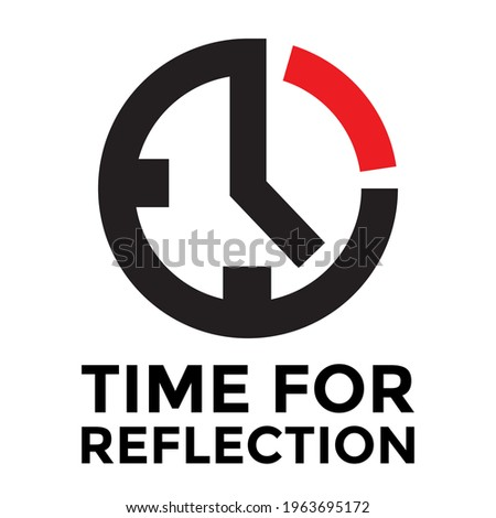 time for reflection  clock icon