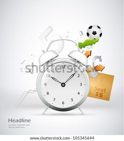 time for sport concept illustration
