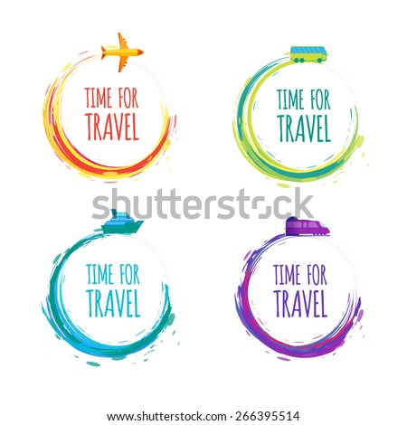 time for travel colorful