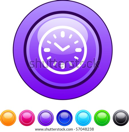 Time glossy circle web buttons.