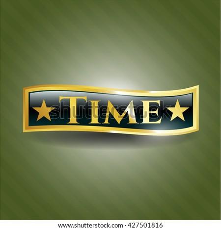 Time gold emblem
