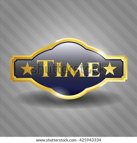 Time golden emblem or badge