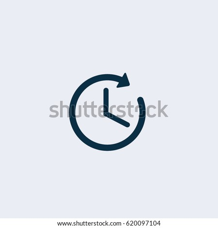 time icon clock icon vector