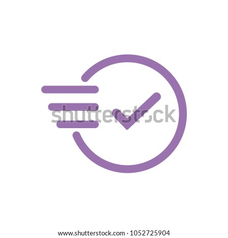 Time icon. Fast time vector icon. Deadline icon. Stock photo ©