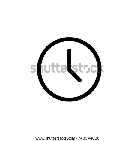 Time Icon, Time icon vector, in trendy flat style isolated on white background. Time icon image, Time icon illustration