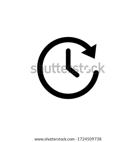 Time icon vector. Clock icon symbol illustration