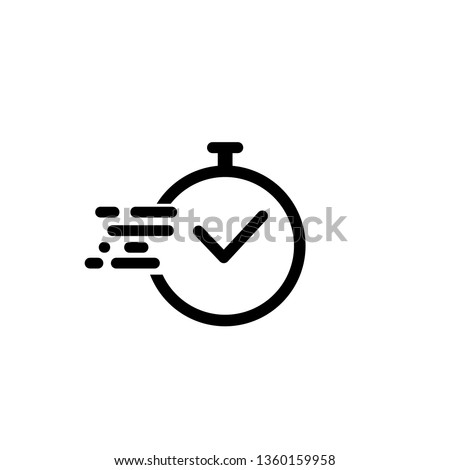 Time icon vector. Fast time vector icon. Deadline icon vector illustration