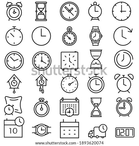 Time icon vector set. clock illustration sign collection. watch symbol.