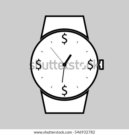 time icon. watch icon