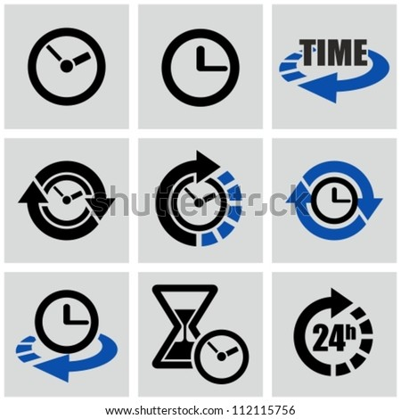 Time icons set.
