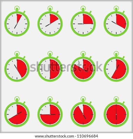 Time indicators, vector eps10 illustration