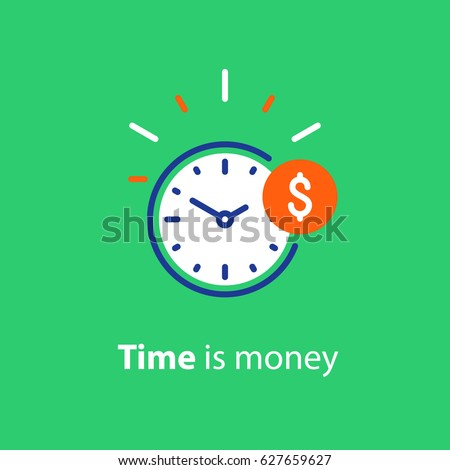 time is money concept  clock
