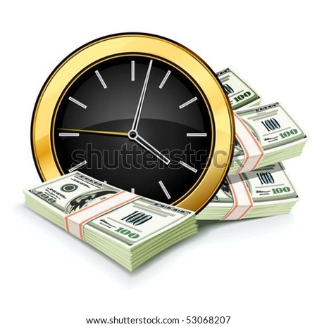 time is money concept with