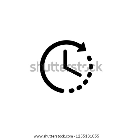 time left icon vector. time left vector graphic illustration