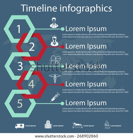 time line infographics vector
