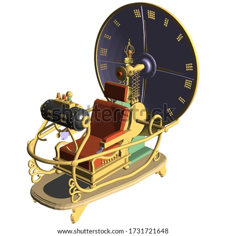 Time Machine Vector 07. Illustration Isolated On White Background. A Vector Illustration Of Time Machine Background. Stock photo ©