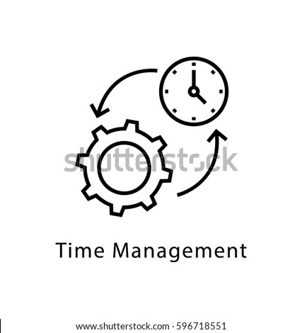 Time Management Vector Line Icon