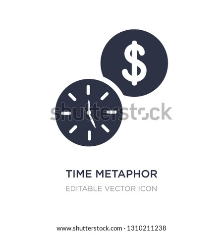 time metaphor icon on white background. Simple element illustration from General concept. time metaphor icon symbol design.