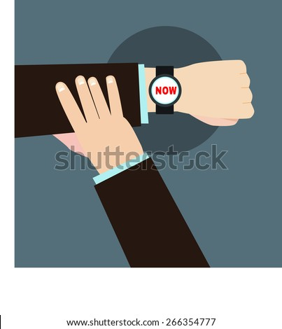 time now  businessman hands