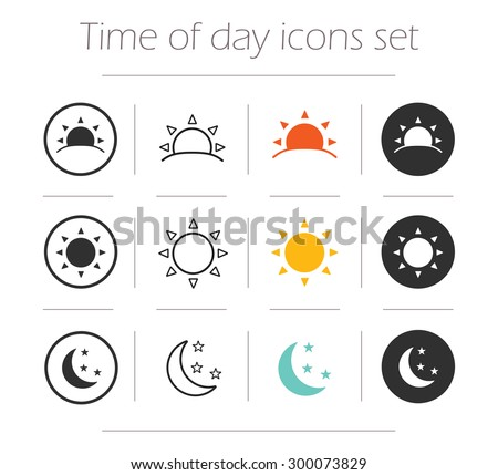 time of the day simple icons