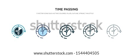 time passing icon in different