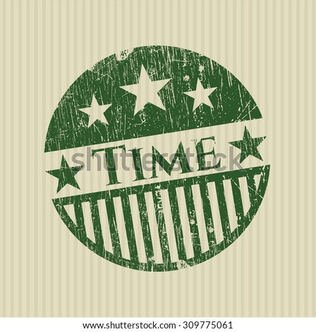 Time rubber grunge stamp