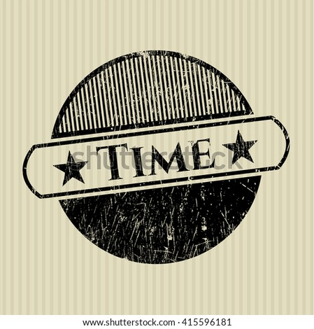 Time rubber grunge texture seal