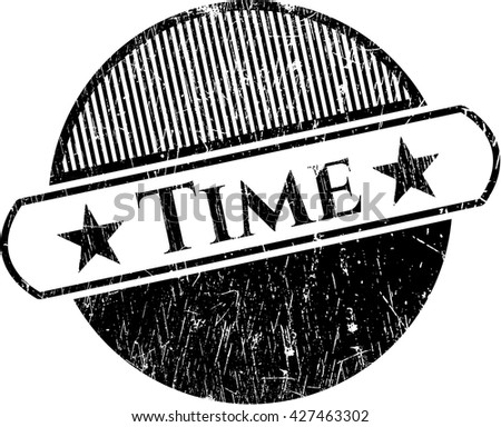 Time rubber seal with grunge texture