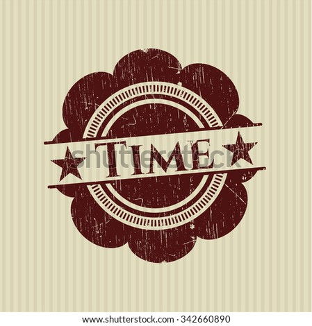 Time rubber stamp with grunge texture