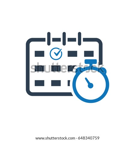Time Schedule Management Icon