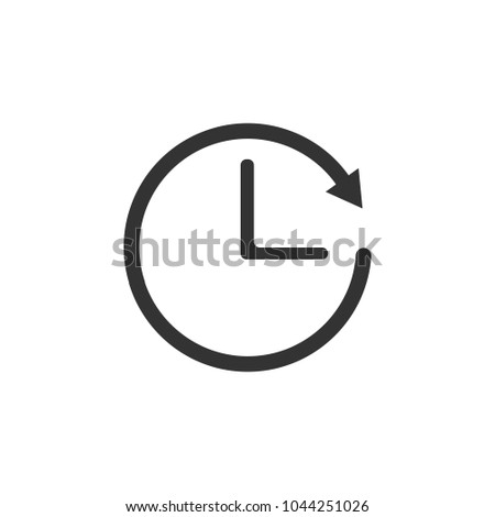 Time sign. Alarm, clock icon, vector illustration. Flat design.