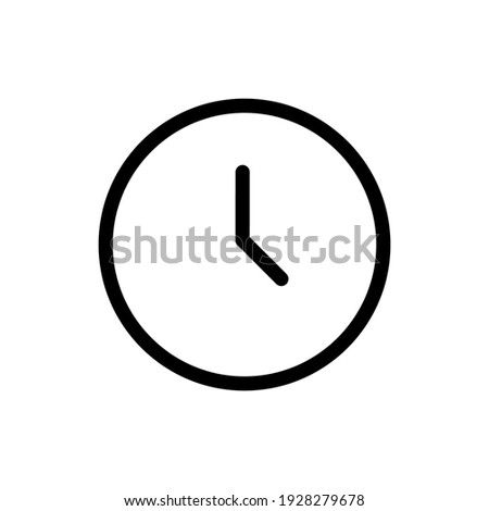 Time simple icon vector illustration in outline style
