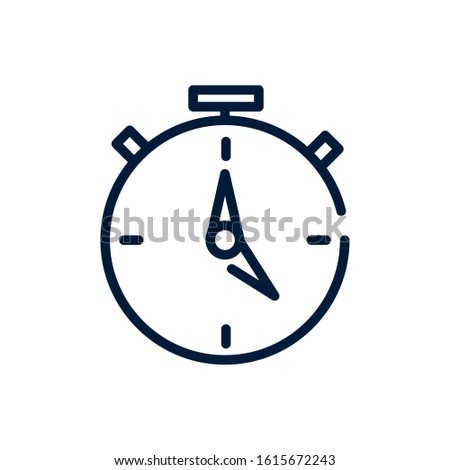 time stopwatch speed fast clock linear design linear design on white background vector illustration