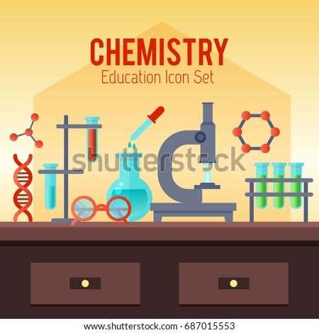 Time to education back to school school subjects power of knowledge vector illustration