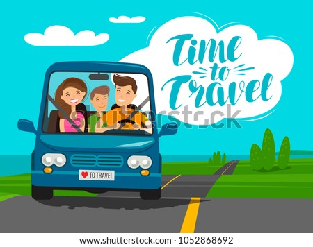 time to travel  concept happy