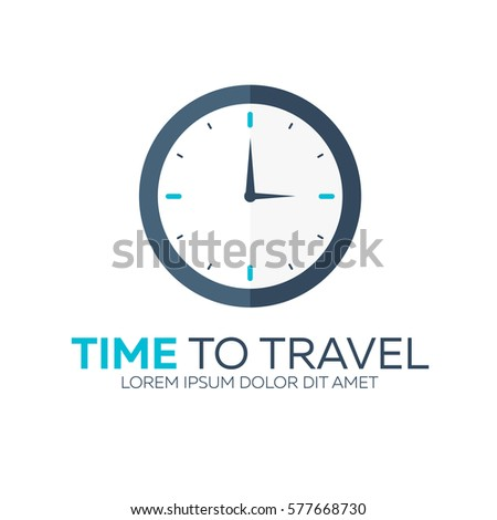 time to travel travel logo