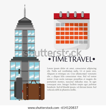 time travel poster calendar