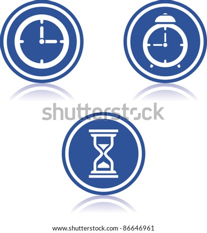 Time - Vector clocks icons