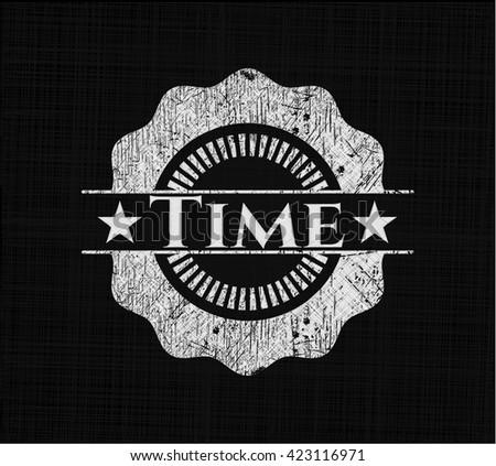 Time written on a chalkboard