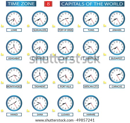 TIME ZONE 8 - ALL CAPITALS OF THE WORLD - FILE 8/8