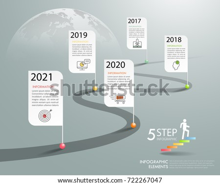Timeline business concept infographic template, can be used for workflow layout, diagram, number options, timeline or milestones project.