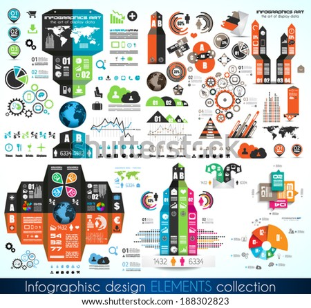 Timeline Infographic design template.  With paper tags. Idea to display information, ranking and statistics with orginal and modern style.