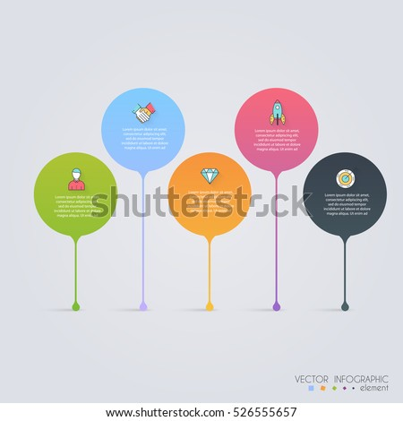 Timeline Infographic Design Templates. Charts, Diagrams and other Vector Elements for Data and Statistics Presentation.