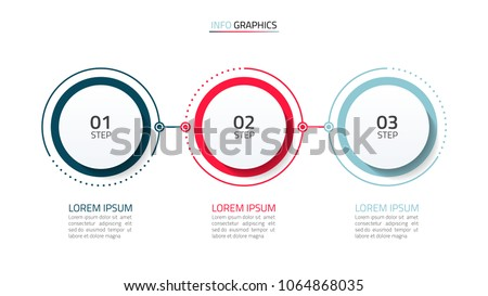 Timeline infographic design vector and number options.Business concept with 3 steps.Can be used for workflow layout, diagram, annual report, web design.Vector business template for presentation.