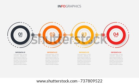 Timeline infographic design vector and number options.Can be used for workflow layout, diagram, annual report, web design.Vector business template for presentation.