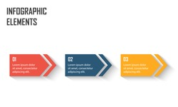 Timeline infographic for using in workflow or process presentation. 3 step process
